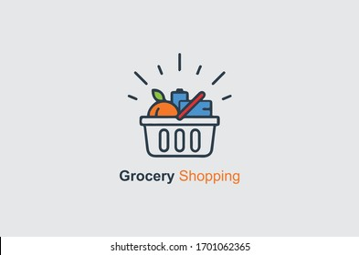new grocery shop logo design template