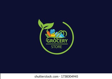 new grocery store logo design idea