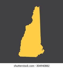 New Hampshire border,map. Vector illustration EPS8.