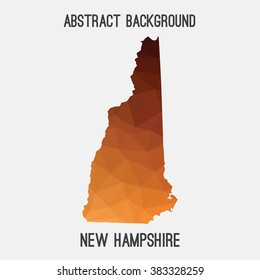 New Hampshire state map in geometric polygonal style.Abstract tessellation,modern design background. Vector illustration EPS8