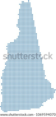 New Hampshire State Usa Map Dots Stock Vector Royalty Free
