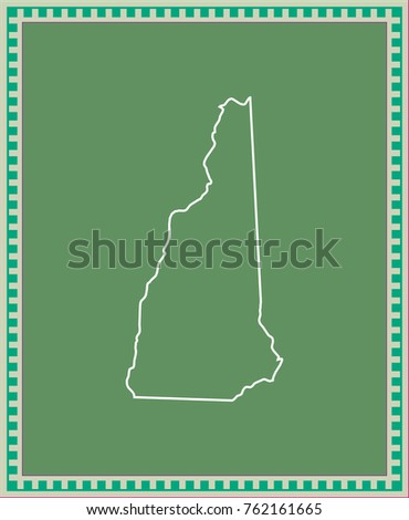 New Hampshire State Usa Map Vector Stock Vector Royalty Free