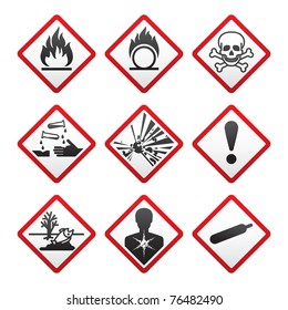 New Hazard warning signs. Globally Harmonized System