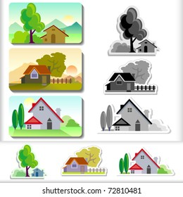New-  House Landscape ICONS Collection