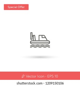 New Hovercraft vector icon. Modern, simple, isolated, flat best quality icon for web site designs or mobile apps. Vector illustration EPS 10.