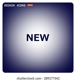 New. icon. vector. Flat design style.