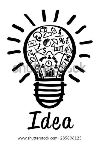 New Idea Concept Drawing Bulb Business Stock Vector Royalty Free