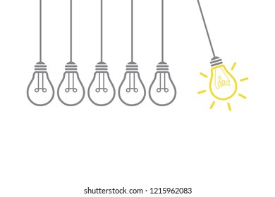 New Idea Concepts with Light Bulb