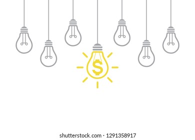 New Idea Finance Concepts with Light Bulb