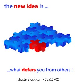 the new idea is what defers you from other