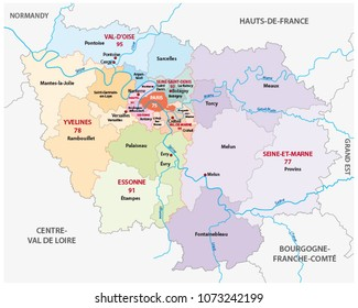 Administrative Map 13 Regions France Since Stock Vector 2018