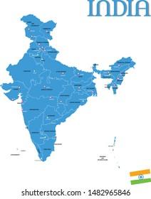 NEW INDIA MAP 2019 ( jammu and kashmir and ladakh union territory)