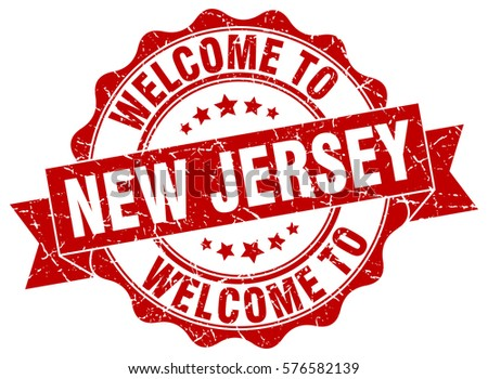 New Jersey Welcome To Stamp