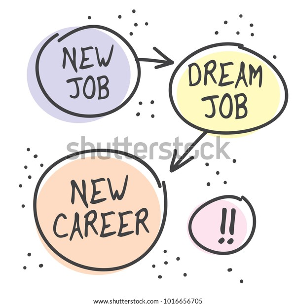 New Job New Career Poster Banner Stock Vector Royalty Free 1016656705