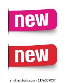 New label set. Vector illustration
