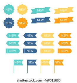 New labels set. Vector illustration