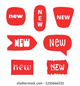 New labels and stickers set. vector design