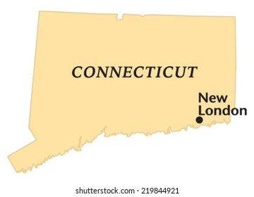 New London, Connecticut locate map