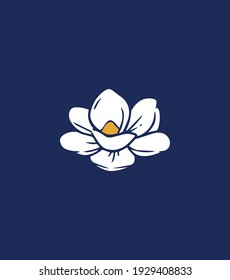 The New Magnolia. The symbol of the state of Mississippi. Vector illustration