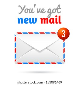 new mail vector symbol