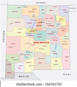 New Mexico Counties Images, Stock Photos & Vectors | Shutterstock