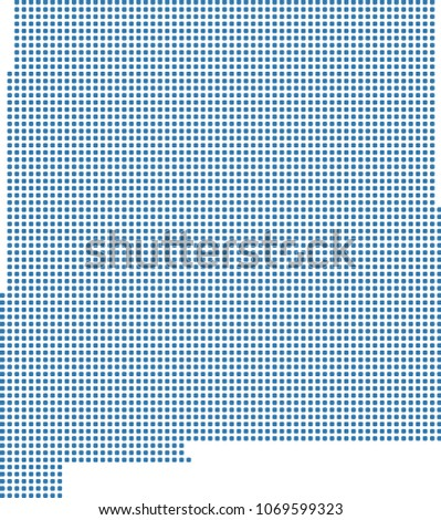 New Mexico State USA Map Dots Stock Vector (Royalty Free) 1069599323 ...