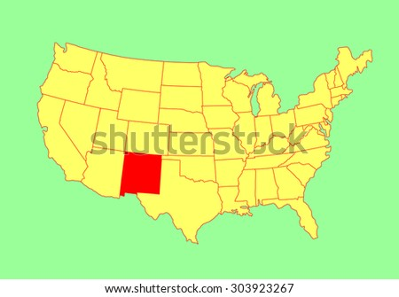 New Mexico State USA Vector Map Stock Vector (Royalty Free ...