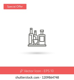 New Minibar vector icon. Modern, simple, isolated, flat best quality icon for web site designs or mobile apps. Vector illustration EPS 10.