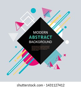 New modern abstract design for poster, flyer, cover and background vector template.