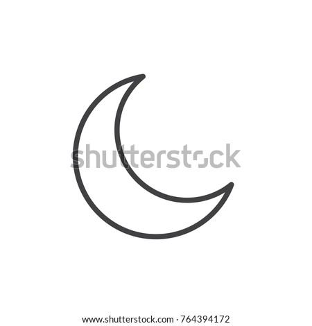 New Moon Line Icon Outline Vector Stock Vector Royalty Free