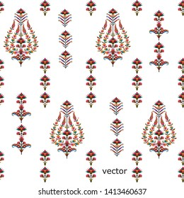new mughal flower motif pattern background