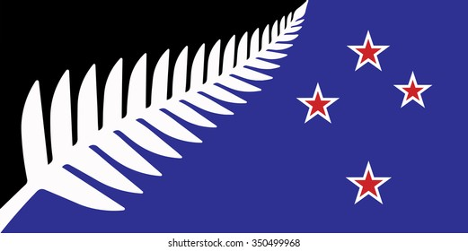 New national flag of New Zealand.