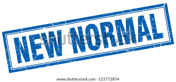 New Normal Stamp Square Grunge Isolated Stock Vector Royalty Free