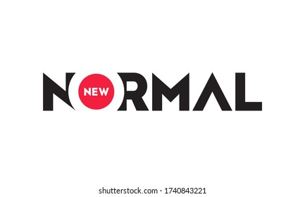 New Normal text word design vector on white background