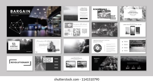New Original Business Presentation templates or corporate booklet. Use in creative flyer and style info banner, trendy strategy mockups. Simple modern Slideshow or Startup.
