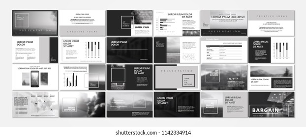 New Original Presentation templates or corporate booklet. Use in creative flyer and style info banner, trendy strategy mockups. Simple modern Slideshow or Startup.