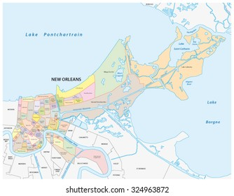 new orleans administrative map