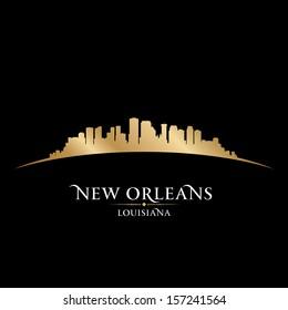 New Orleans Louisiana city skyline silhouette. Vector illustration