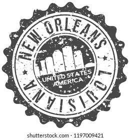 New Orleans Louisiana Travel Stamp Icon City Design Tourism Export Seal