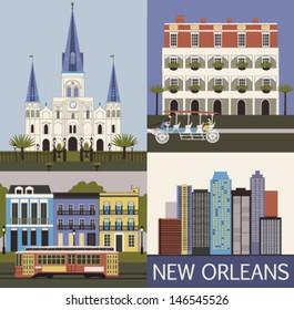 New Orleans. Louisiana USA. Vector