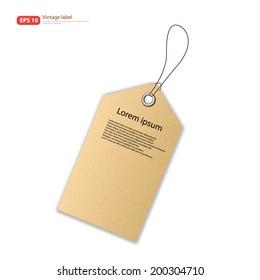 New Paper tag vintage label vector design