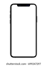 new phone vector drawing eps10 format isolated on white background