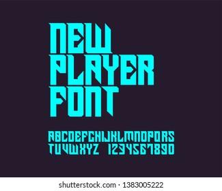 New Player Font. Gothic stylish font design