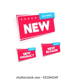 New, New Product & New Arrival Labels