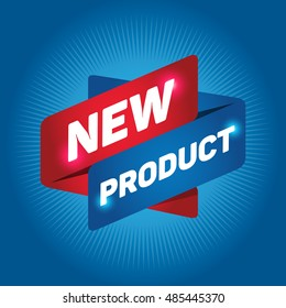 NEW PRODUCT arrow tag sign.