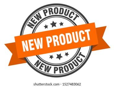 new product black signl. new product orange band label
