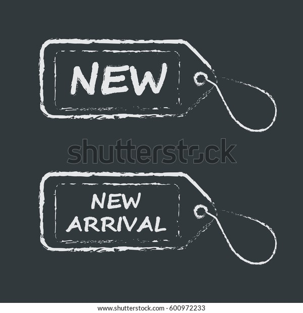 New product label in grunge style on white background. Vector.