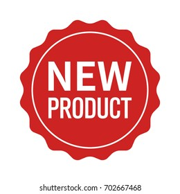 New product label, seal, sticker flat vector icon for websites and packaging