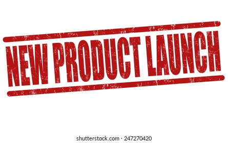 New product launch grunge rubber stamp on white background, vector illustration