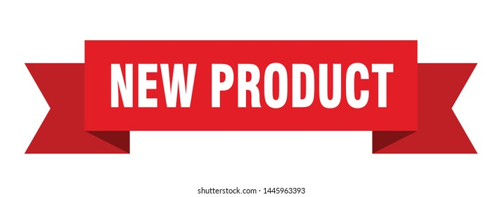 new product ribbon sticker. new product sign. new product banner